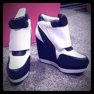 Qupid Sneaker Wedges
